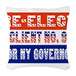 reelectclientno9gov4 Woven Throw Pillow