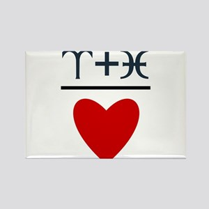 Aries + Pisces = Love Rectangle Magnet