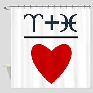 Aries + Pisces = Love Shower Curtain