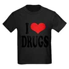 ilovedrugsblk Kids Dark T-Shirt