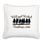 Wild and Wicked Square Canvas Pillow
