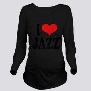 ilovejazzblk Long Sleeve Maternity T-Shirt