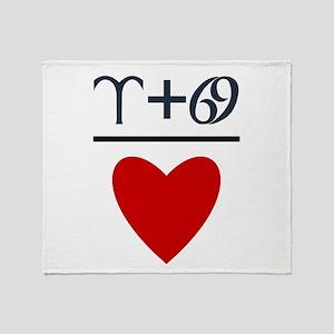 Aries + Cancer = Love Throw Blanket