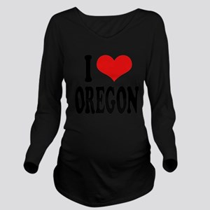 iloveoregonblk Long Sleeve Maternity T-Shirt