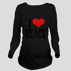ilovepeaceblk Long Sleeve Maternity T-Shirt