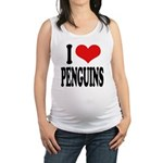 ilovepenguinsblk.png Maternity Tank Top