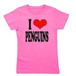 ilovepenguinsblk.png Girl's Tee