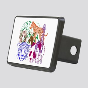 Jungle Beings Rectangular Hitch Cover