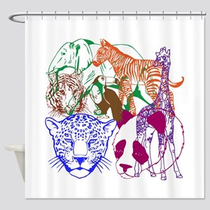 Jungle Beings Shower Curtain