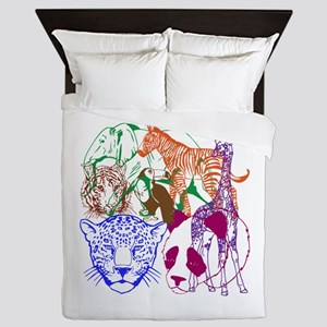 Jungle Beings Queen Duvet