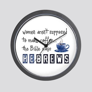 Bible Says Hebrews Wall Clock