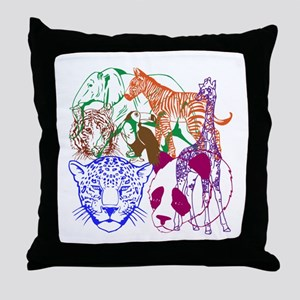 Jungle Beings Throw Pillow