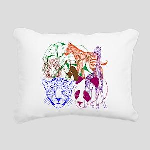 Jungle Beings Rectangular Canvas Pillow