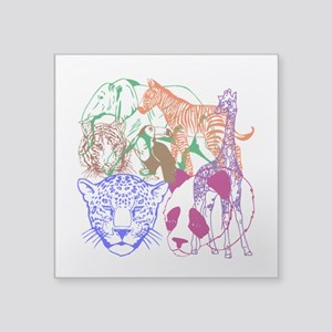 """Jungle Beings Square Sticker 3"""" x 3"""""""