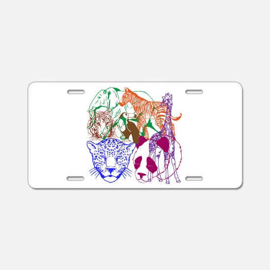 Jungle Beings Aluminum License Plate