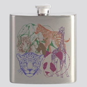 Jungle Beings Flask