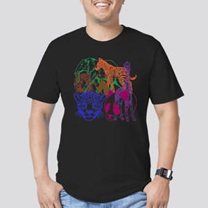 Jungle Beings Men's Fitted T-Shirt (dark)