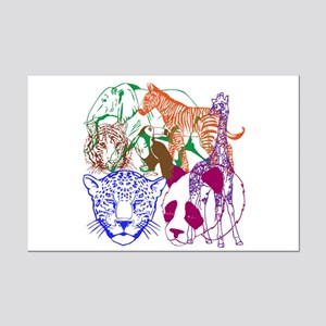 Jungle Beings Mini Poster Print