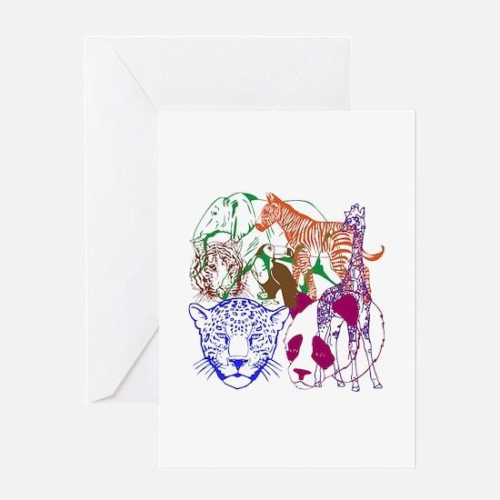 Jungle Beings Greeting Card