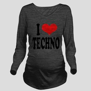 ilovetechnoblk Long Sleeve Maternity T-Shirt