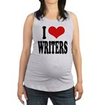 ilovewritersblk Maternity Tank Top