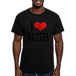 ilovewritersblk Men's Fitted T-Shirt (dark)