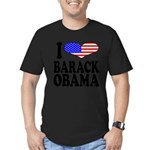 ilovebarackobamablk Men's Fitted T-Shirt (dark