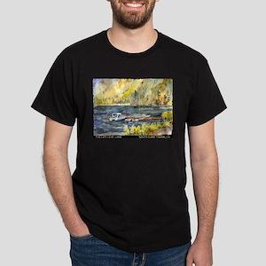 Fallen Leaf Boat Dock Dark T-Shirt