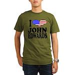 ilovejohnedwardsblk Organic Men's T-Shirt (dar