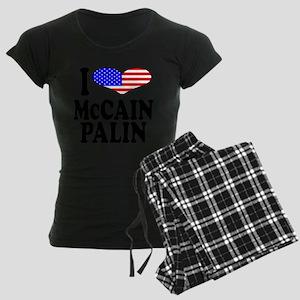 ilovemccainpalinblk.png Women's Dark Pajamas