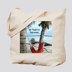 Hammock on the Beach - Retirement Tote Bag