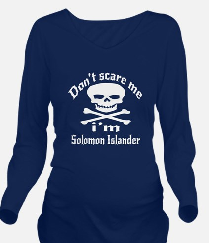 Do Not Scare Me I Am Long Sleeve Maternity T-Shirt