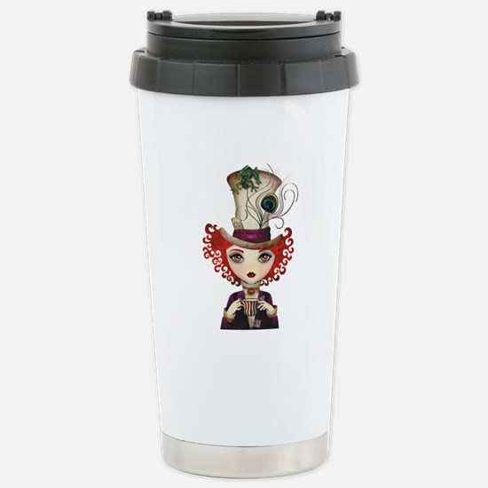 Lady Hatter Stainless Steel Travel Mug