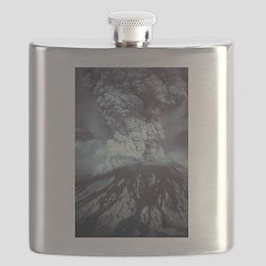 Mount St Helens Volcano Flask
