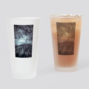 Mount St Helens Volcano Drinking Glass