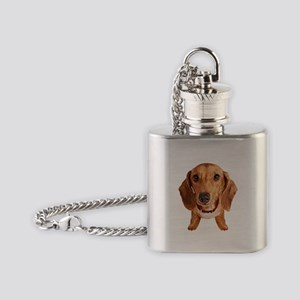 Dachshund002 Flask Necklace