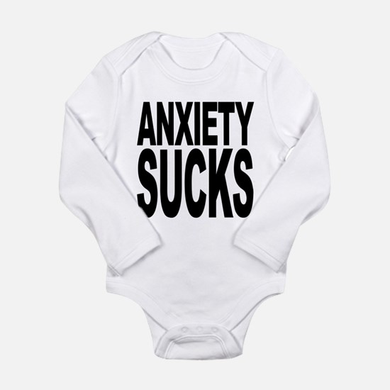 anxietysucks.png Long Sleeve Infant Bodysuit
