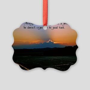 Pessimist humor Picture Ornament