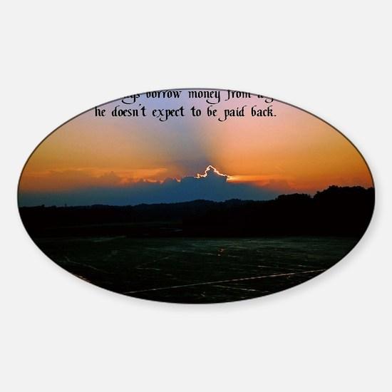Pessimist humor Sticker (Oval)