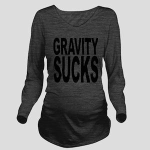 gravitysucks Long Sleeve Maternity T-Shirt