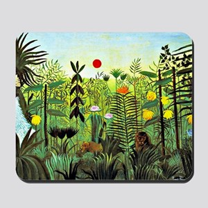 Exotic Landscape with Lion and Lioness i Mousepad