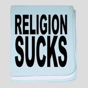 religionsucksblk baby blanket
