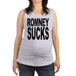 romneysucksblk Maternity Tank Top