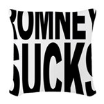 romneysucksblk Woven Throw Pillow