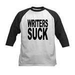 writerssuckblk.png Kids Baseball Jersey