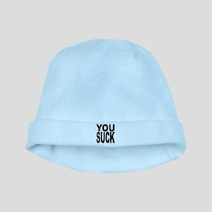 yousuckblk baby hat