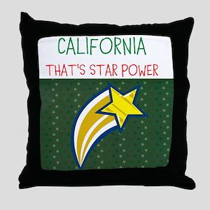 CALIFORNIA, THATS STAR POWER. Throw Pillow