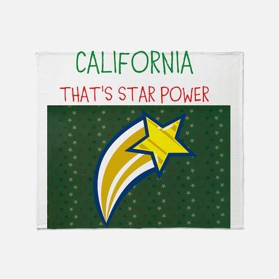 CALIFORNIA, THATS STAR POWER. Throw Blanket