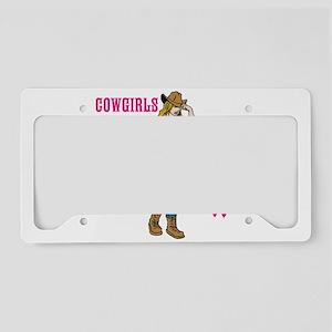 Cowgirls Wear Pink License Plate Holder