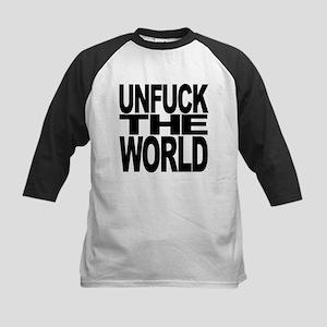 unfucktheworldblk Kids Baseball Jersey